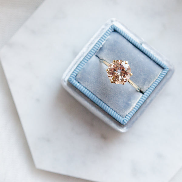 Classic Morganite 6-Prong Ring