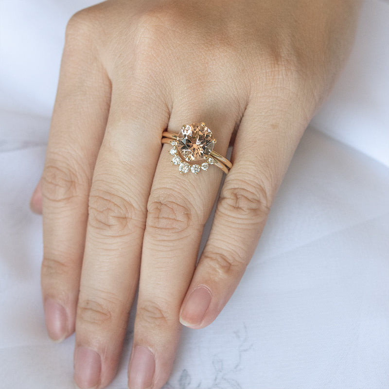 Classic Morganite Solitaire Six-Prong Ring