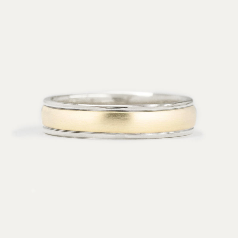 Classic Half Round Two Tone Band - 5 MM