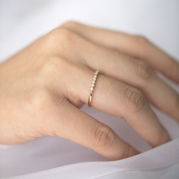 Classic Diamond Half Eternity Band
