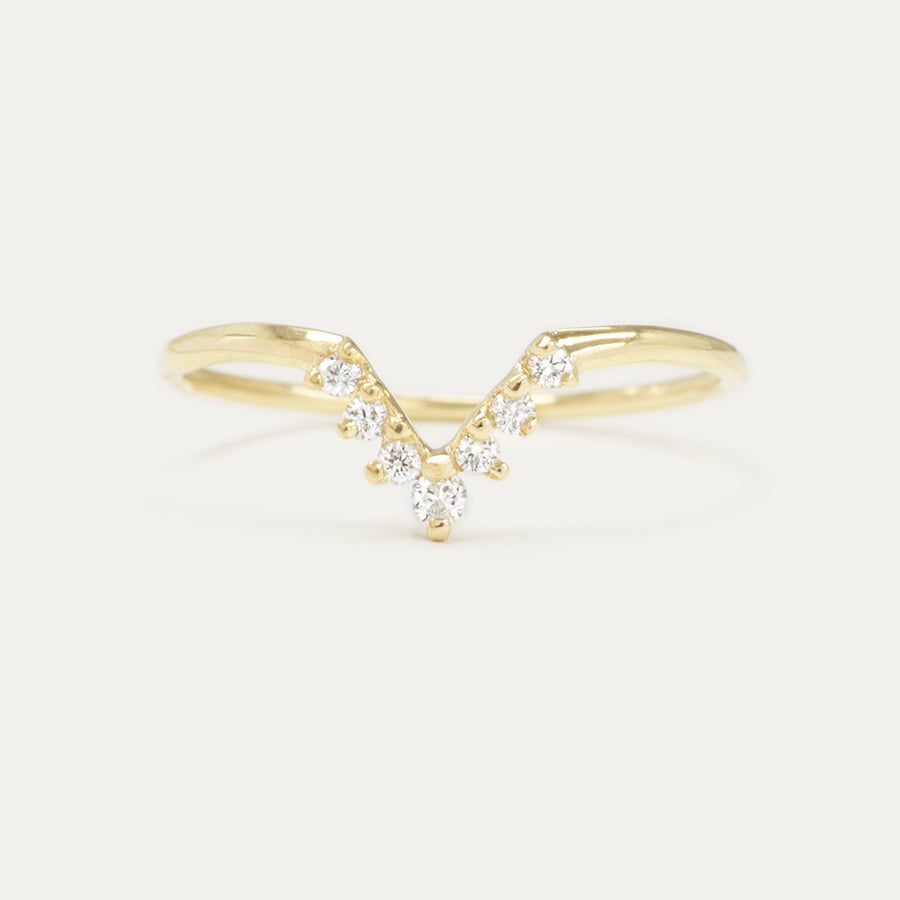 V Diamond Wedding Band Rings - A Gilded Leaf jewelry