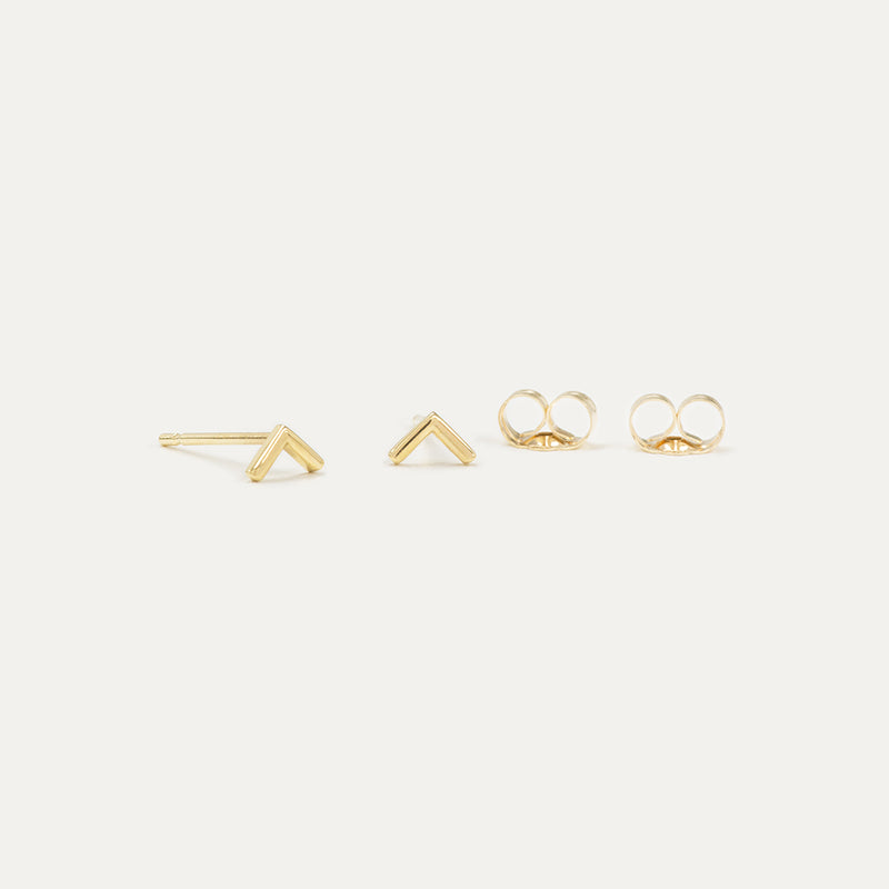 Tiny V Stud Earrings