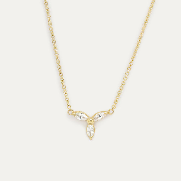 Marquise White Sapphire Necklace