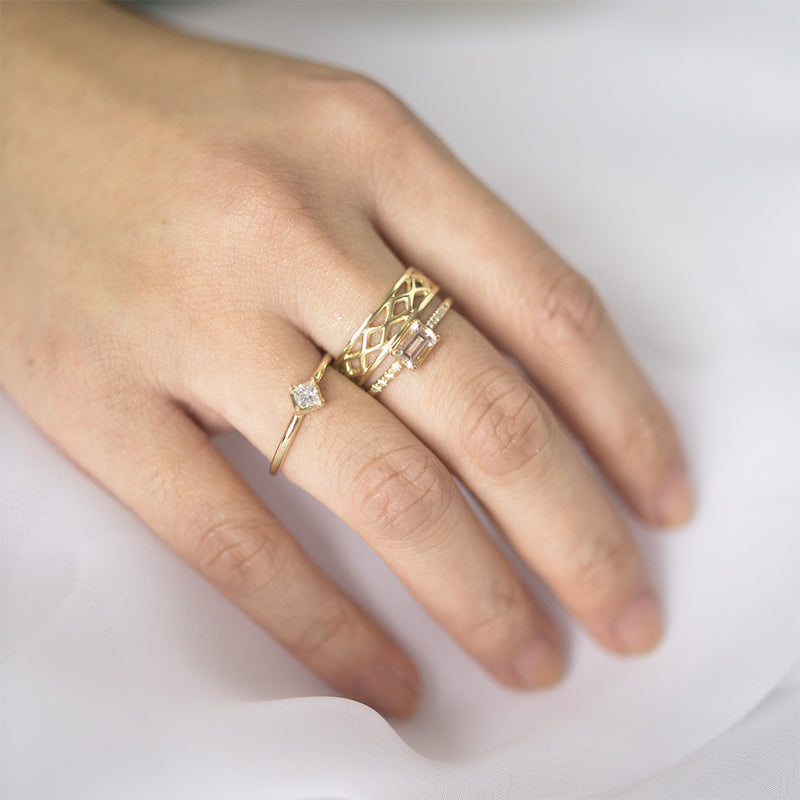 Criss Cross Wide Ring Rings - A Gilded Leaf jewelry