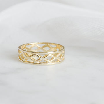5.50MM Open Cross Eternity Band