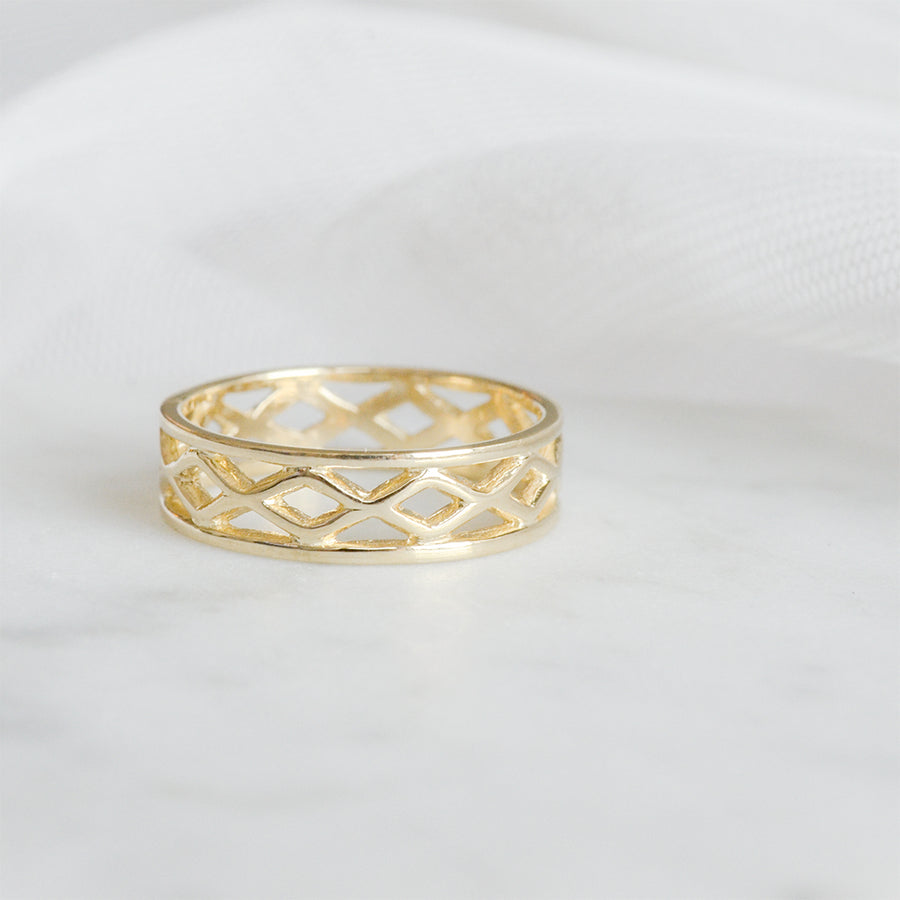 Open Cross Eternity Band