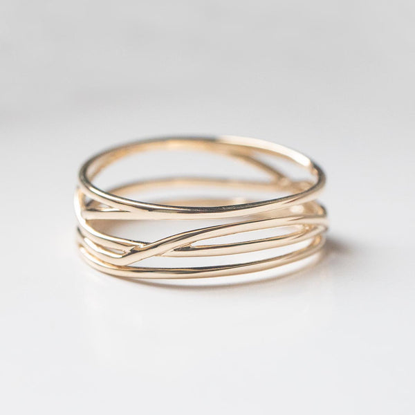Wide Twisted Ring - 6.25 MM