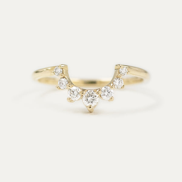 "Diamond ""U"" Curve Wedding Ring"