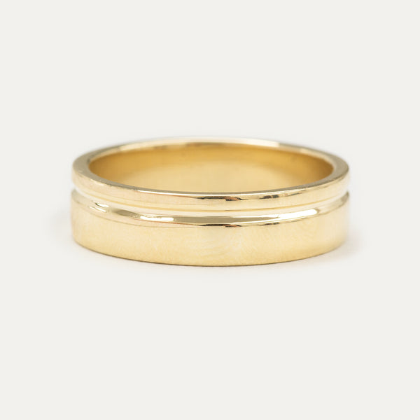 Single Grooved Ring 6MM - Yellow Gold