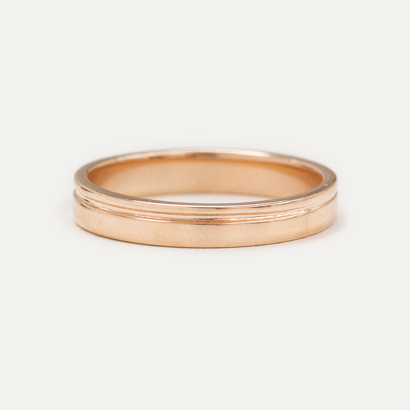 Single Grooved Ring 3MM - Rose Gold