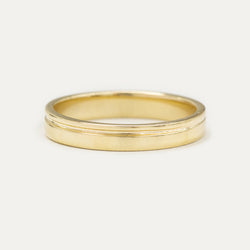 Single Grooved Ring 3MM - Yellow Gold