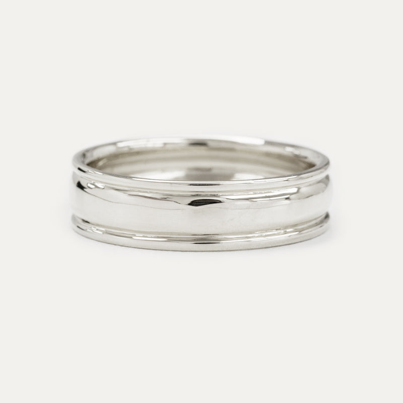 Classic Double Groove Wedding Band - 6 MM