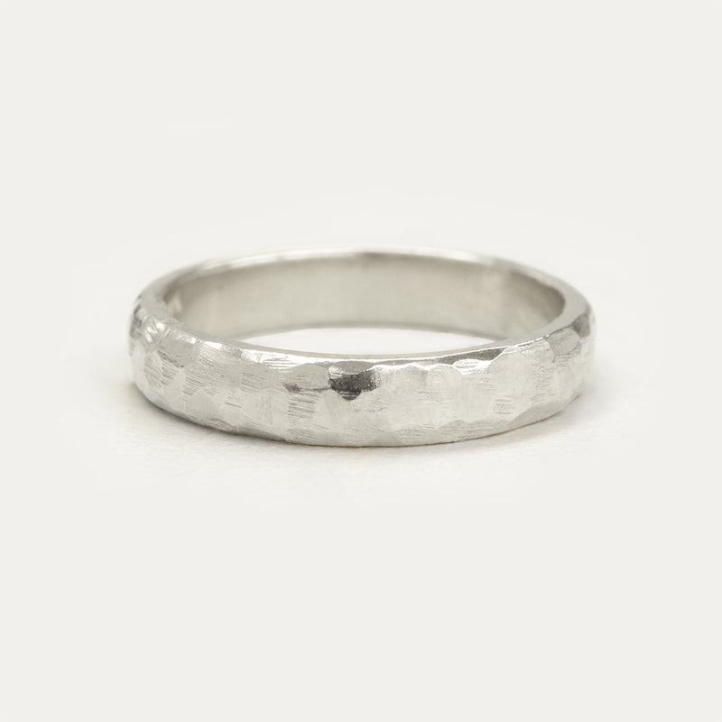Hammered Half Round Band - 4 MM