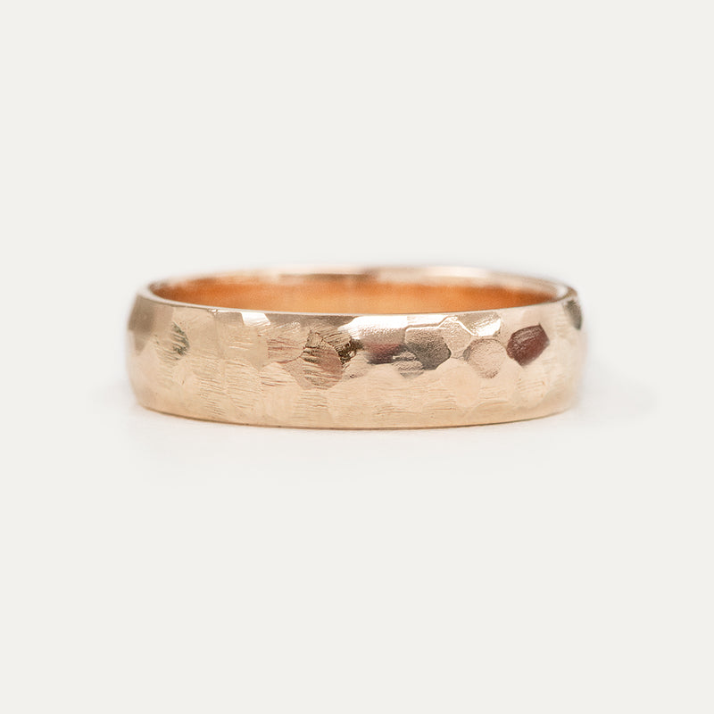 Hammered Half Round Band - 6 MM