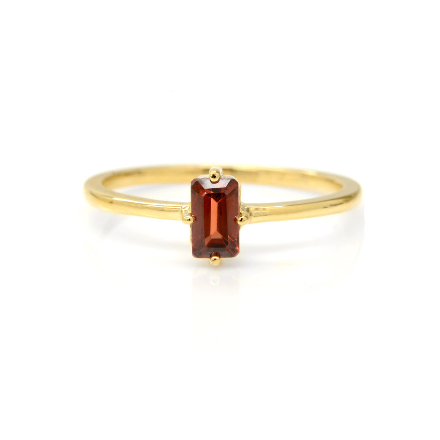 Red Garnet Sparkler Ring