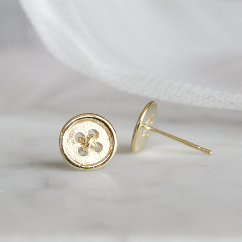 Button Stud Earrings Earrings - A Gilded Leaf jewelry