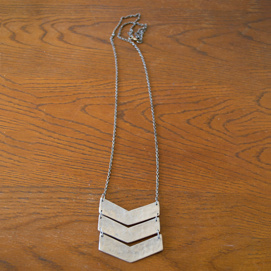 Chevron Necklace Necklace - A Gilded Leaf jewelry