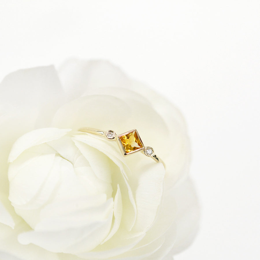 Skyler Citrine Diamond Ring