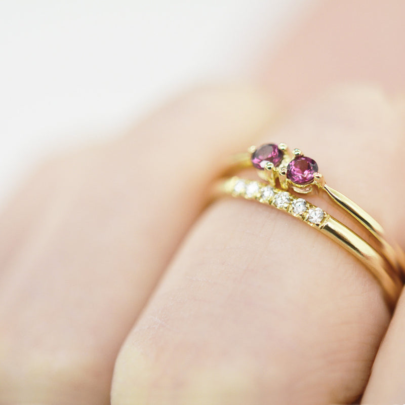 Dualistic Garnet Ring Rings - A Gilded Leaf jewelry
