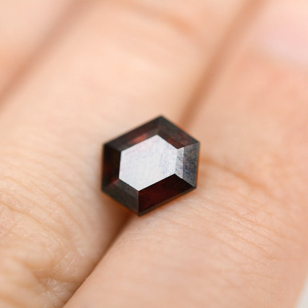 2.57CT Hexagon Cut Red Garnet