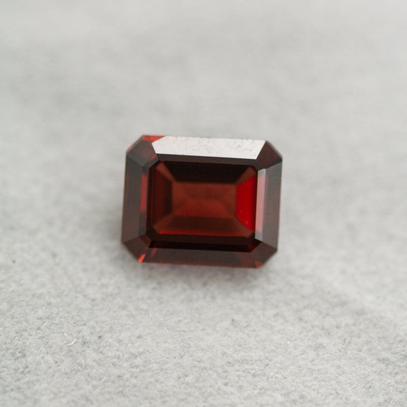 5.20CT Octagon Cut Red Garnet