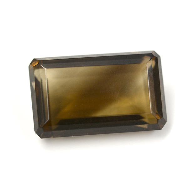 27.00CT Octagon Cut Smoky Quartz