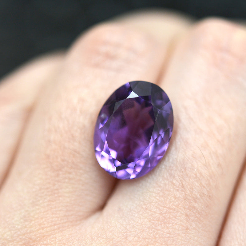 9.88CT Oval Cut Amethyst
