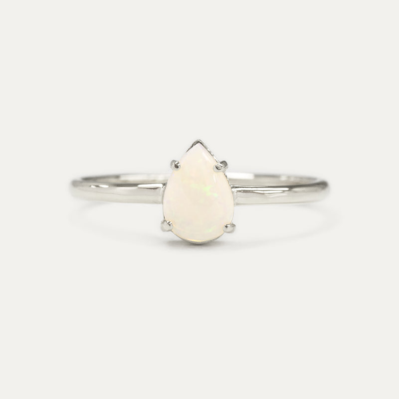 Pear Cut Opal Ring