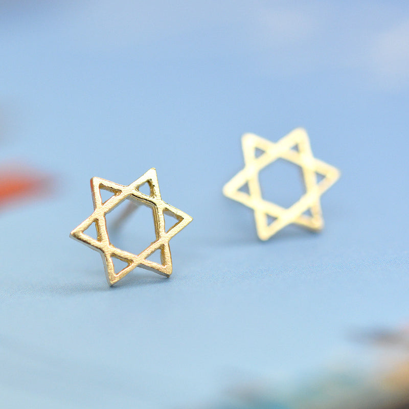 Star of David Mini Studs Earrings - A Gilded Leaf jewelry
