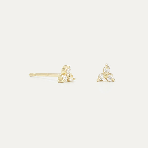 Tiny Three Diamond Studs