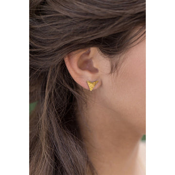 Aztec Studs Earrings - A Gilded Leaf jewelry