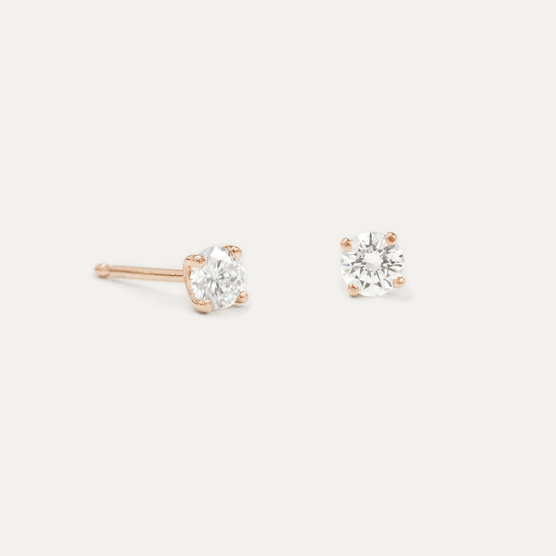 Round Moissanite Stud Earrings (Multiple Sizes)