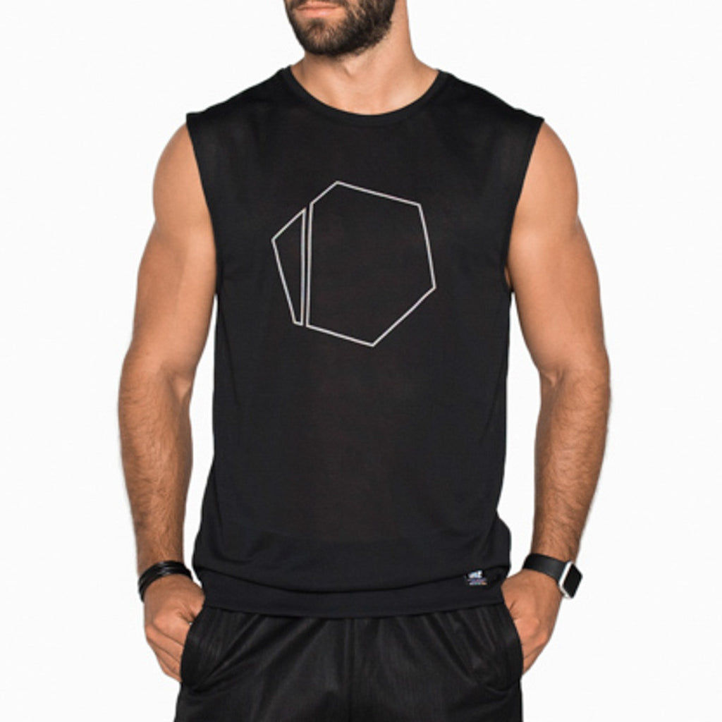 Reflective Mesh Sleeveless
