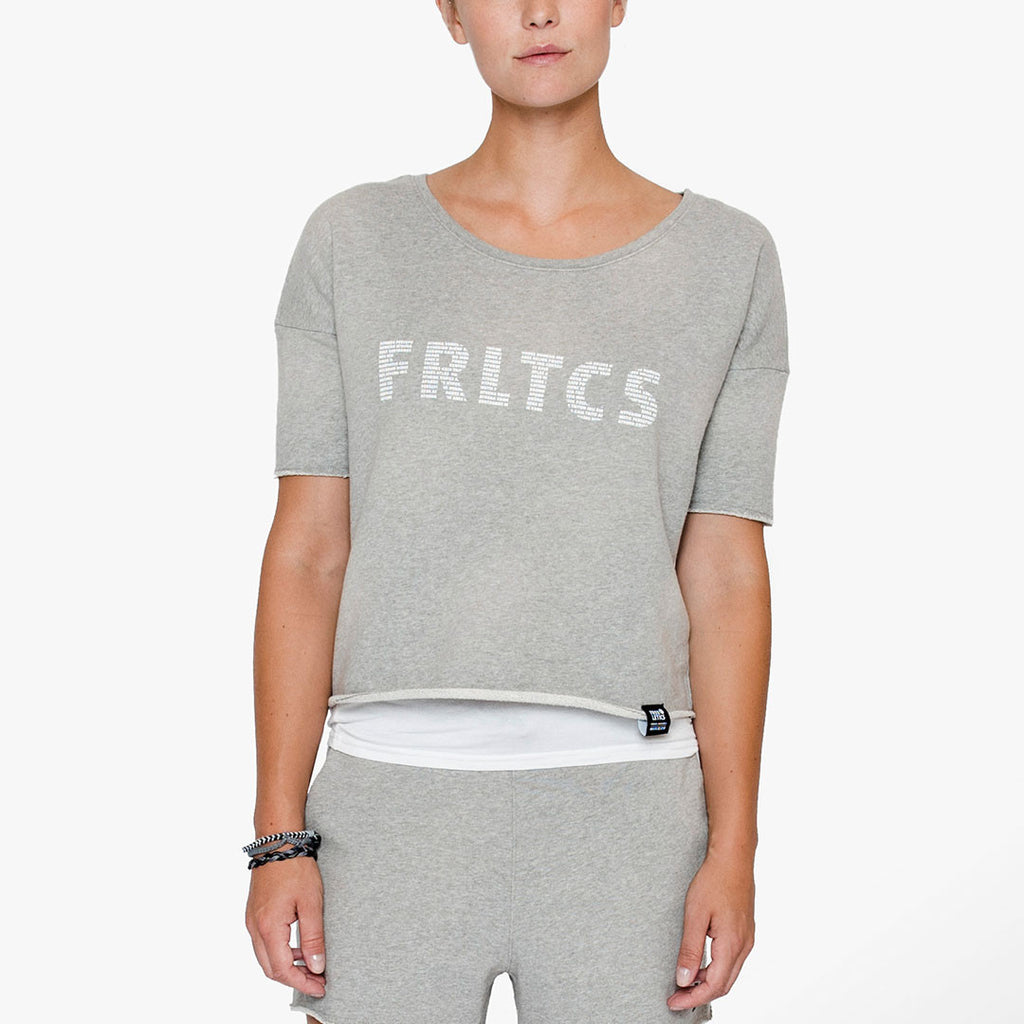 Cut-Off Cropped Sweater 2.0 Grey