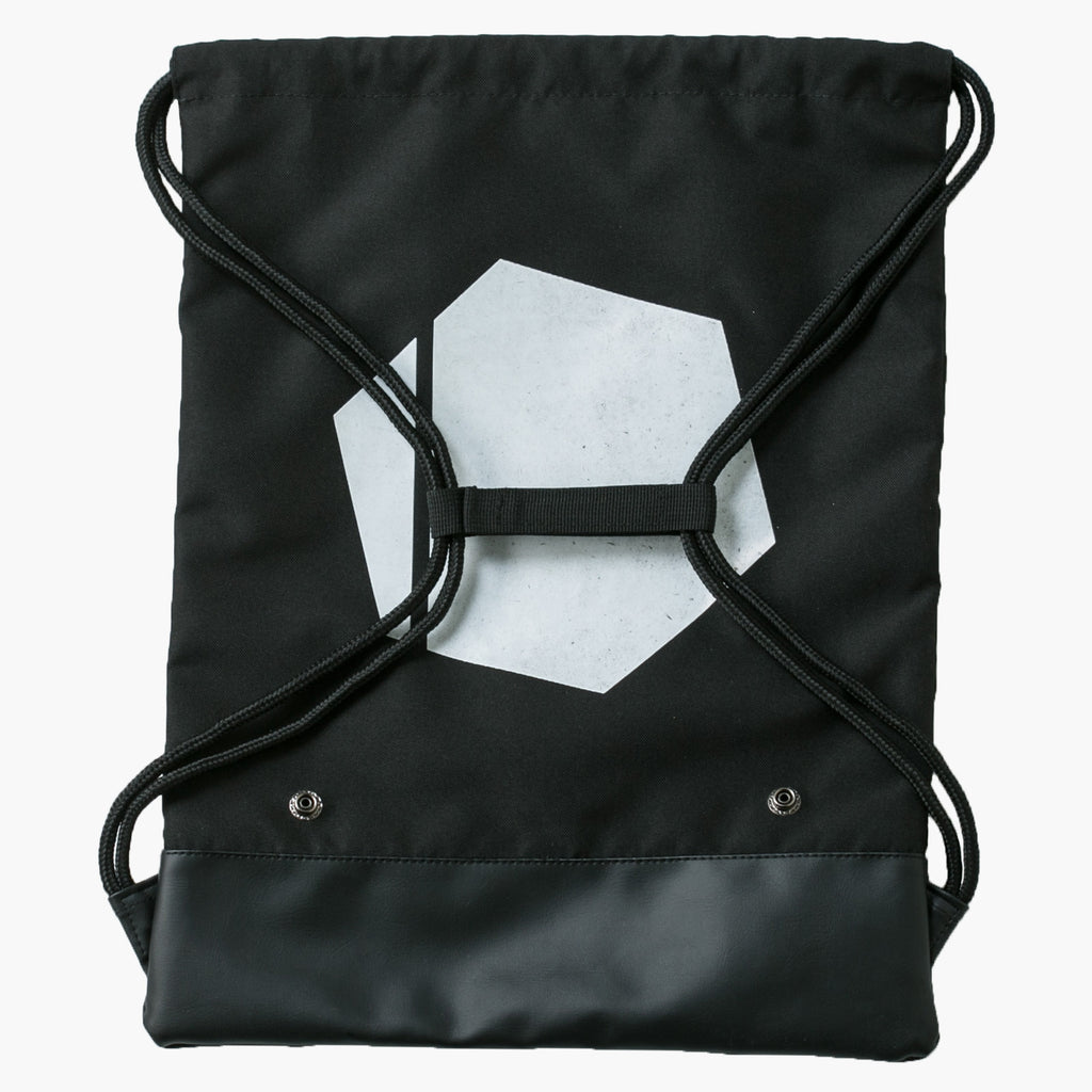 No Excuses Gymbag White Hexagon