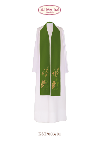 Stole with wheat and grapes - Haftina Liturgical Vestments