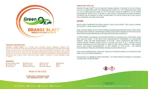 Orange Blast - Industrial Cleaner Degreaser