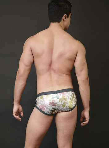 Drew Swim Trunk Camo Print on Sequins
