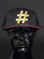 GOLD # FLAT BILL FITTED CAP