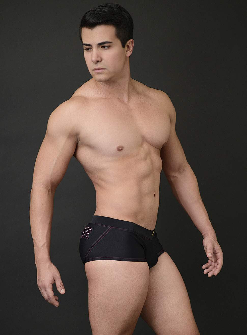 Mick Swim Trunk with Crystal #HOOKER Logo