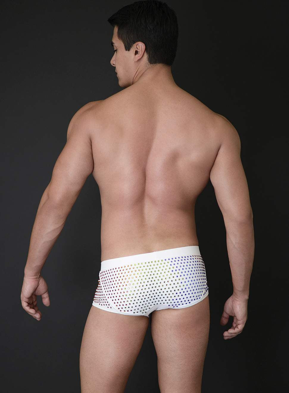 MICK SWIM TRUNK WITH CRYSTALS - PRIDE LIMITED EDITION