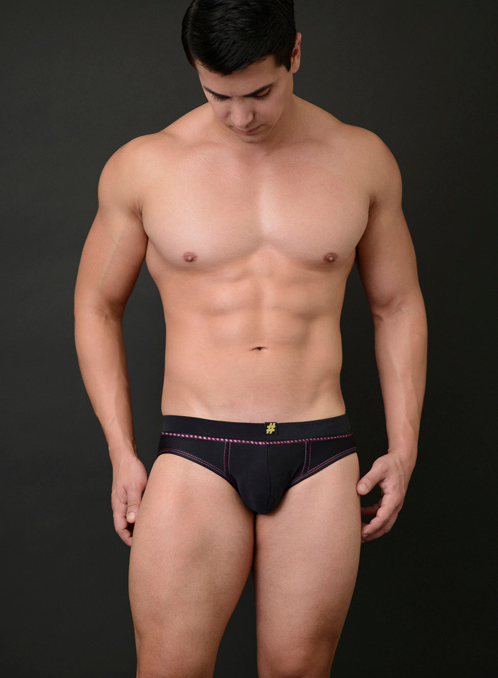 BILLY SWIM RACER WITH WAIST CRYSTALS