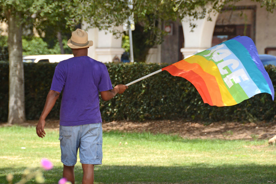 "Holly Roberts Gay Pride Flag Photograph from ""Our Ojai"""