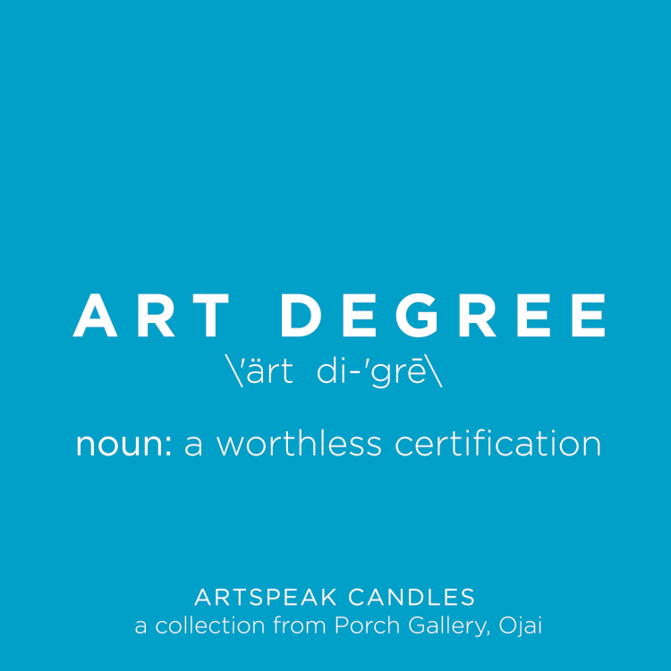 Artspeak Candle - Art Degree
