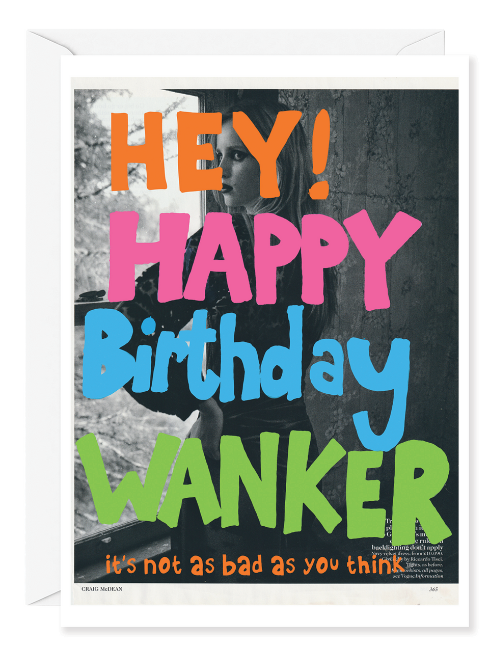 "Kirsten Stoltmann ""Happy Birthday Wanker"" Greeting Card"