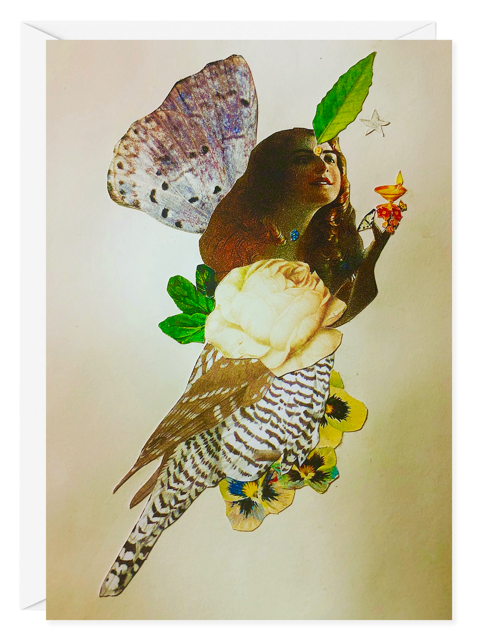 "Fran Gealer ""Owl Girl"" Greeting Card"