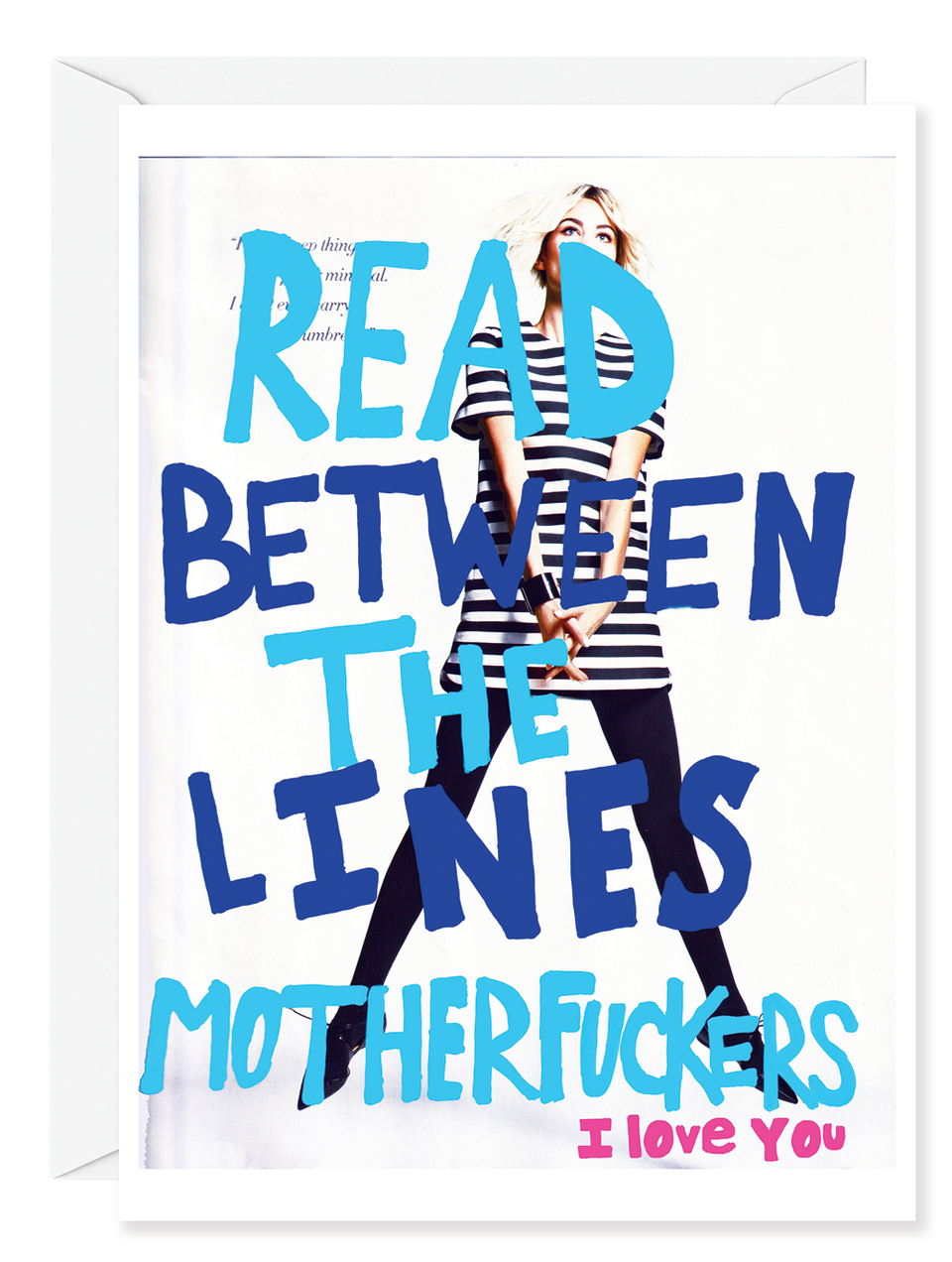 "Kirsten Stoltmann ""Read Between the Lines"" Greeting Card"