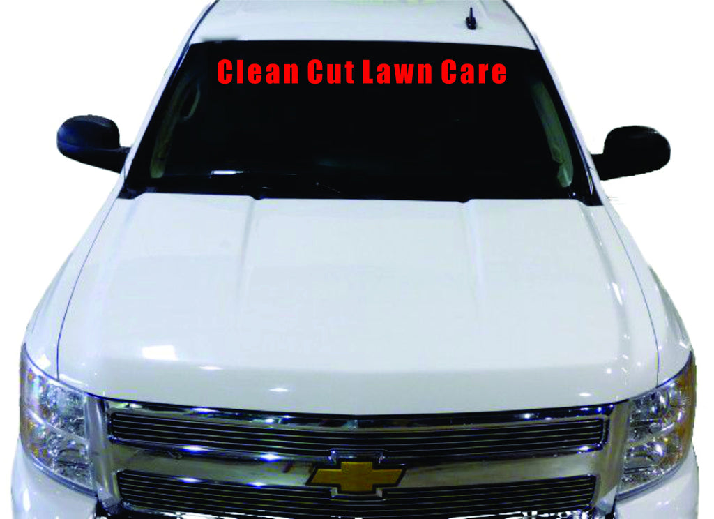 Windshield Decal Custom Made With YOUR Business Name Get - Car windshield decals custom