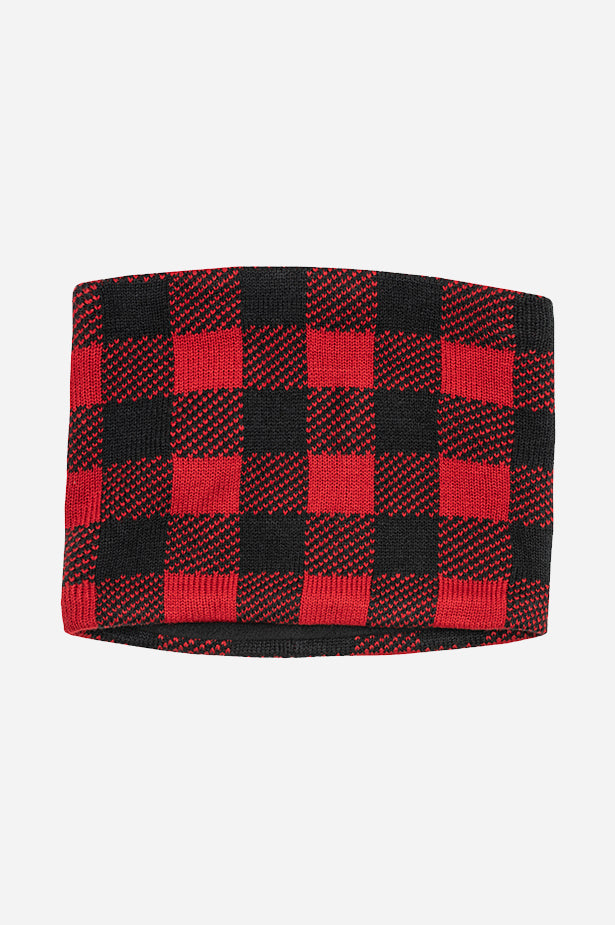 Buffalo Plaid Necktube Black Red