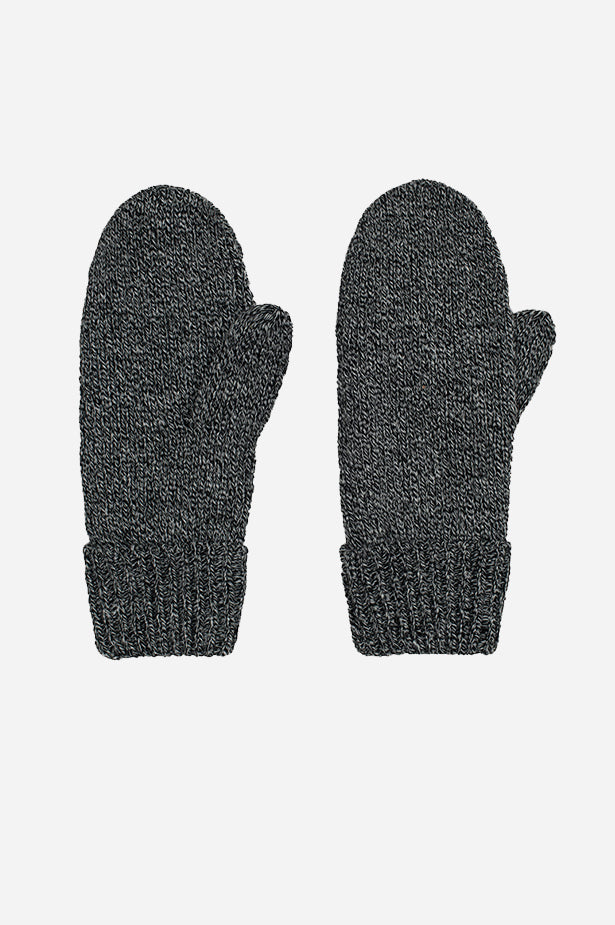 Marled Mitt Black Grey